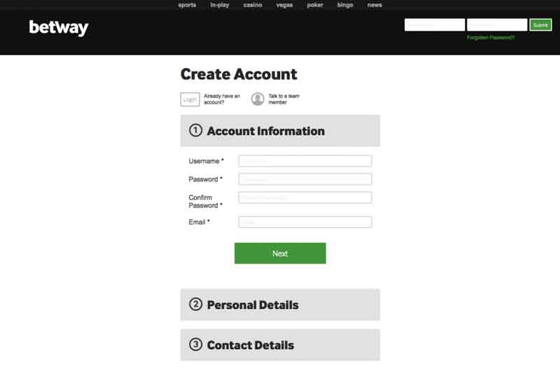 betway registration online