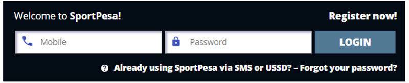 log in to sportpesa account